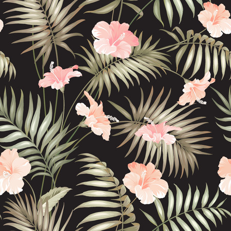 Hand draw tropical flower.  Stock Illustratie
