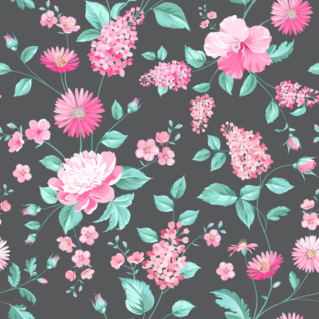 Seamless flower pattern for fabric design.