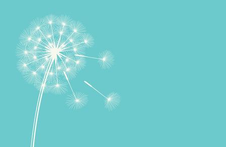 blue dandelion: Dandelion against the blue sky. Nature background. Vector illustration.