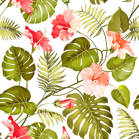 Blossom flowers for seamless pattern background. Vector illustration. Ilustracja