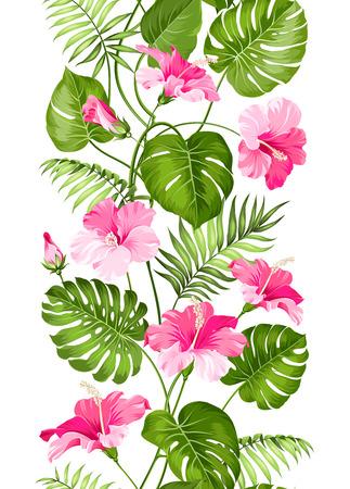 Floral linear tile design. Design for print. Elegant card patern. Vector illustration.