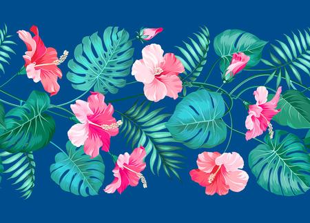 monstera leaf: Floral linear tile design. Design for print. Elegant card patern. Vector illustration.