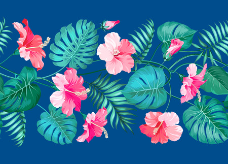 Floral linear tile design. Design for print. Elegant card patern. Vector illustration.
