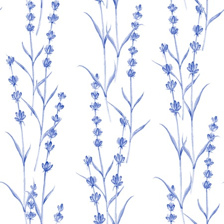 provence: Romantic vintage pattern with violet lavender flowers of provence.