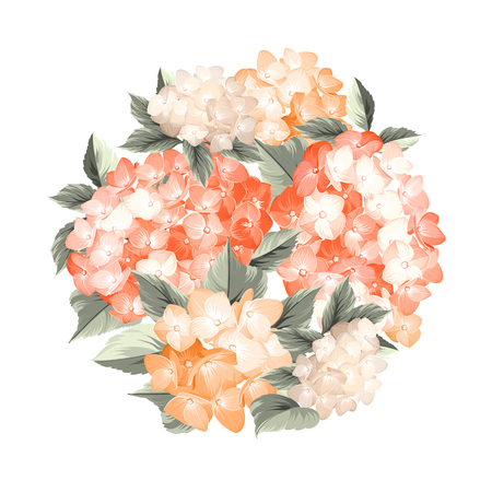Bouquet of flowers. Vintage background.