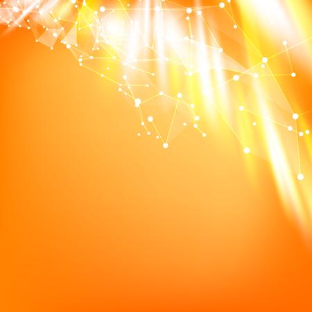 naranja: Fondo liso abstracto. Fondo anaranjado. Antecedentes de triángulos.