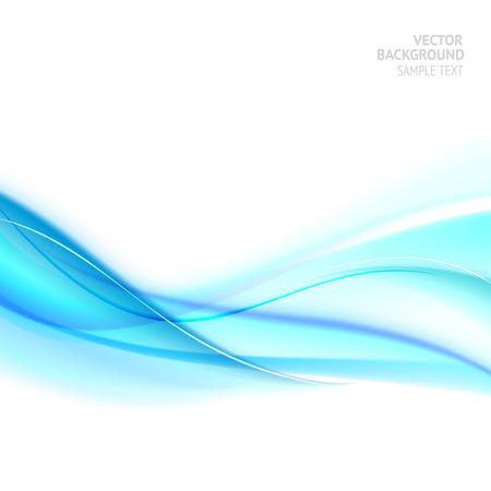 curvas: Líneas de luz azul suave. Ilustración de remolinos de agua. Ondas azules. Ilustración del vector.