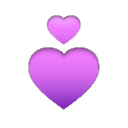 purple heart: Spirit day purple heart isolated over white for your design. A symbol of support for LGBTI youth who are victims of bullying. Vector illustration. Illustration