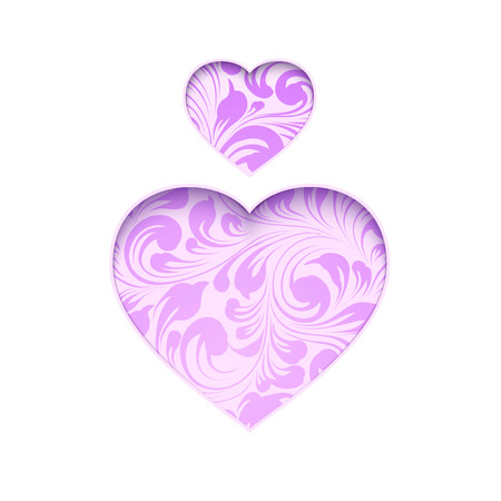 victims: Spirit day purple heart isolated over white for your design. A symbol of support for LGBTI youth who are victims of bullying. Vector illustration. Illustration