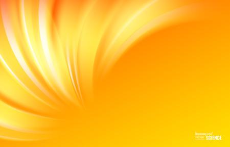 Fondo colorido de las líneas de luz suave con olas suaves. Líneas asimétricas. Resumen de antecedentes para presentaciones científicas. Ilustración del vector. Vectores