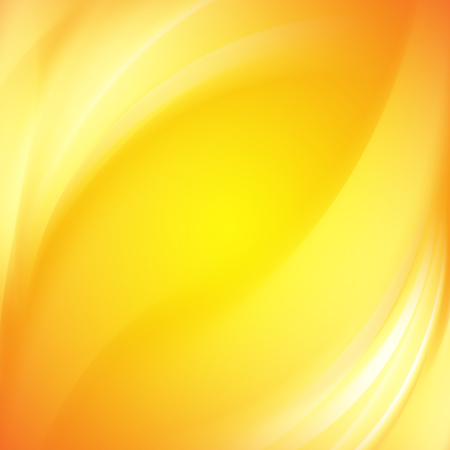 amarillo: Fondo colorido de las líneas de luz suave con olas suaves. Líneas asimétricas. Resumen de antecedentes para presentaciones científicas. Ilustración del vector. Vectores