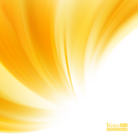 yellow design element: Orange background with smooth waves.