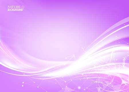 violet: Futuristic background. Wireframe mesh polygonal element. Illustration