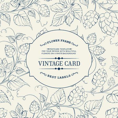 barley hop: Vintage design for you personal cover.