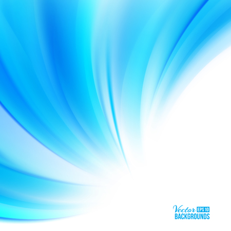 Blue background with smooth waves.