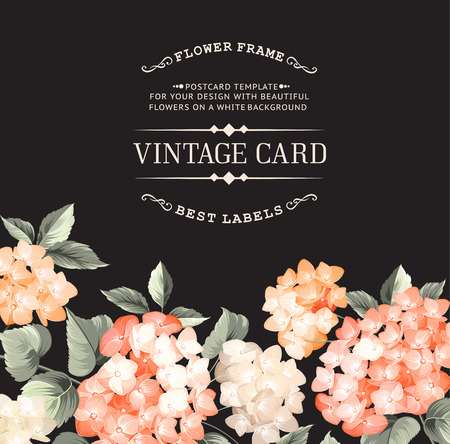 Vintage card for Wedding invitation template.