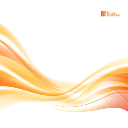 Abstract orange wind. Abstract smooth background lines for your text. Vector illustration, contains transparencies, gradients and effects. Vectores