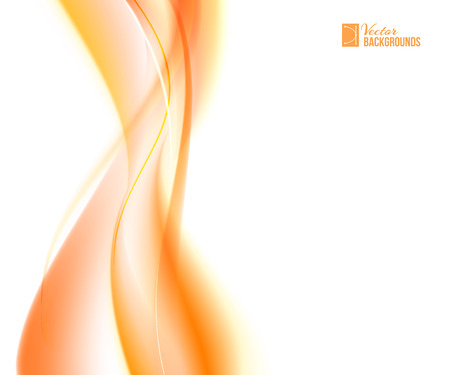 Abstract orange wind. Tender orange light abstract background.  Vector illustration, contains transparencies, gradients and effects.