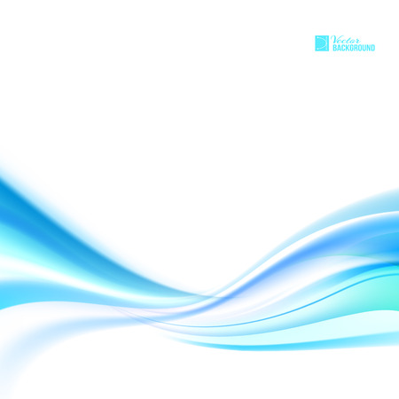 transparencies: Shining blue flow. Business elegant blue abstract background.  Vector illustration, contains transparencies, gradients and effects.