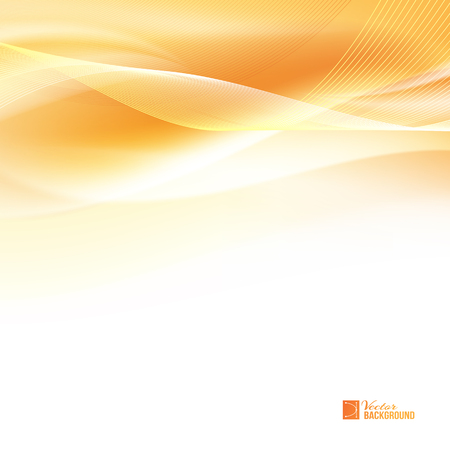 Abstract orange wind. Tender orange light abstract background. Colorful smooth light lines background. Vector illustration, contains transparencies, gradients and effects. Vettoriali
