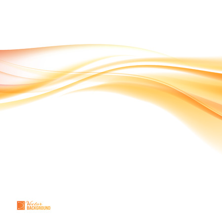 Abstract orange wind. Colorful smooth light lines background. Tender orange light abstract background.  Vector illustration, contains transparencies, gradients and effects.