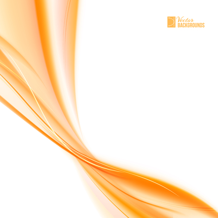 flurry: Abstract orange wind. Abstract smooth background lines for your text. Vector illustration, contains transparencies, gradients and effects. Illustration