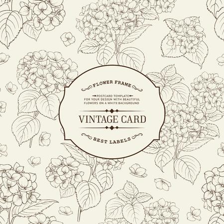 carte invitation: Vintage carte �tiquette. Invitation mod�le de carte pour vos vacances.
