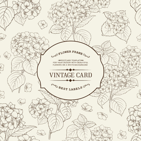 vintage etiket: Vintage label card. Invitation card template for your holiday.