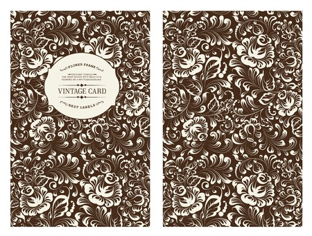 gzhel: Design for you personal cover in black color. Rose flowers. Floral theme for book cover. Ornate of floral seamless pattern in Gzhel style. Vector illustration.