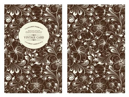 Conception de la couverture pour vous couvrir personnelle de couleur noire. Fleurs de printemps de Sakura. Thème floral pour la couverture du livre. Fleur texture illustration dans le style de la gravure. Vector illustration.