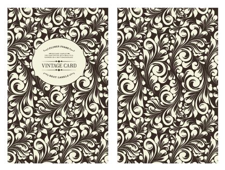 book cover design: Cover design for you personal cover colored black. Spring flower swirls. Floral theme for book cover. Flower texture illustration in style of engraving. Vector illustration.