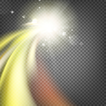 lucidity: Glowing dynamic wave on an transparent background.   illustration Illustration