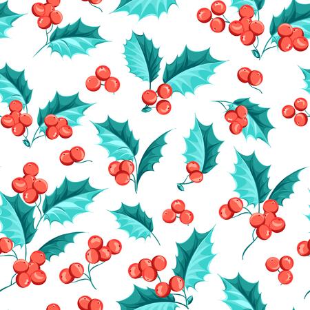 mistletoe: Mistletoe seamless pattern for christmas theme. Seamless christmas background with mistletoe branches. Handmade floral seamless pattern with mistletoe. Vector illustration. Illustration