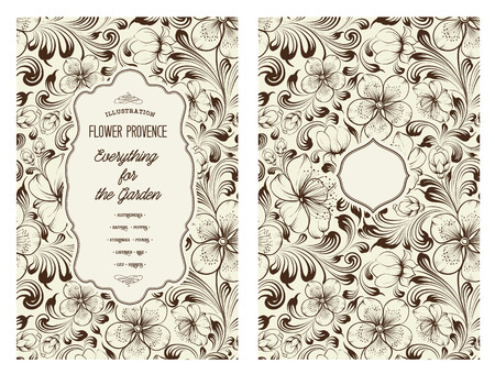 texture of illustration: Design for you personal cover. Spring flowers. Floral theme for book cover. Flower texture illustration in style of engraving. Vector illustration.