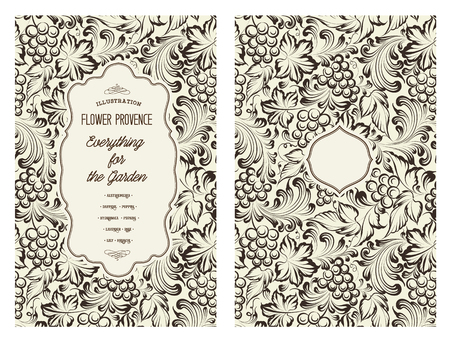 vines: Design for you personal cover. Vine pattern. Vine theme for book cover. Wine texture illustration in style of engraving. Vector illustration.