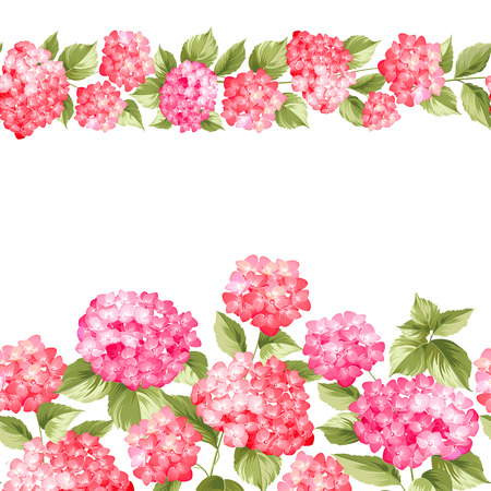 fabric pattern: Pink flower pattern hydrangea flowers. Seamless texture. Pink flowers. Fabric flower pattern. Vector illustration.