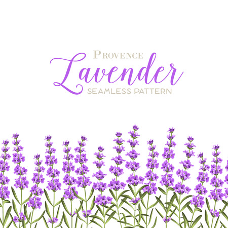 Wreath of lavender flowers in watercolor paint style. The lavender elegant card with frame of flowers and text. Lavender garland for your text presentation.