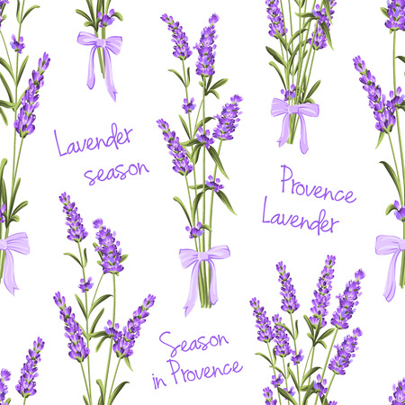 fabric swatch: Seamless pattern of lavender flowers on a white background. Watercolor pattern with Lavender for fabric swatch. Seamless pattern for fabric. Vector illustration. Illustration