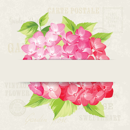 stone background: Wedding invitation with single flower bud over gray background. Vector illustration.