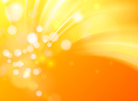 range of motion: Abstract golden background with circle bokeh. Red orange background. Vector illustration.