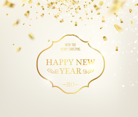 Happy new year card over gray background with golden sparks happy new year card over gray background with golden sparks golden letters merry christmas m4hsunfo