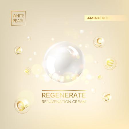Regenerate cream and Vitamin Background. Concept Skin Care Cosmetic. 免版税图像 - 60172054