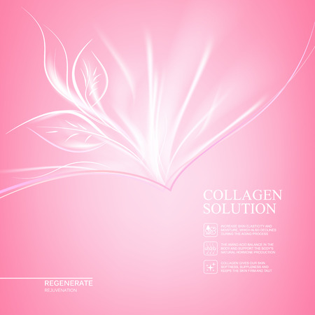 Scince illustration of regeneration cream. Organic cosmetic and skin care cream. Pink background with scin care design. Vector illustration.