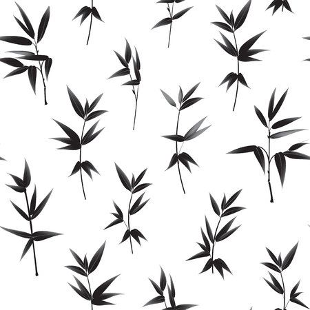 bamboo: Seamless wallpaper of bamboo leaves pattern.