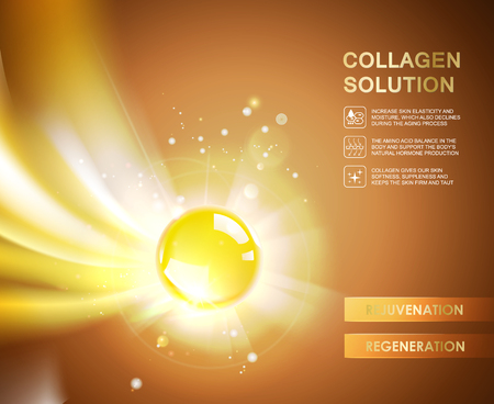 collagen: Oxygen bubble of chronically acid for moisturizing collagen design.