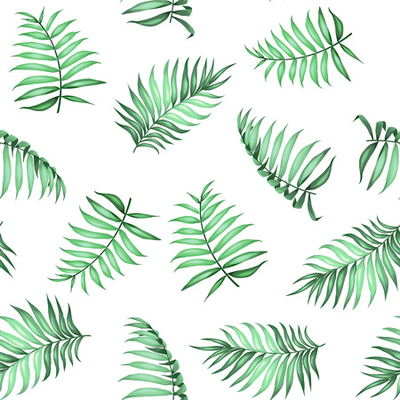 topical: Topical palm leaves on seamless pattern for fabric texture.