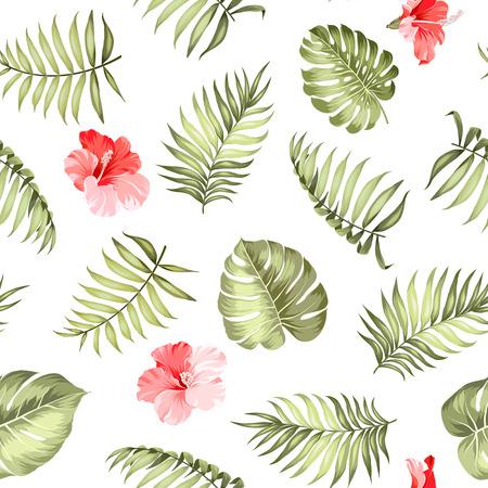 silhouette fleur: palm topique laisse sur pattern pour la texture du tissu.