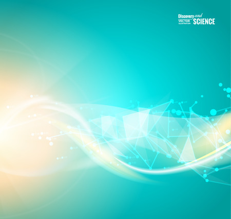 Abstract blue light background for science design. Vector illustration.