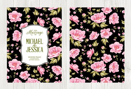 motif floral: conception Avesome pour vous couverture personnelle. motif floral. thème tropical pour la couverture du livre. Pétale illustration texture dans un style moderne. Vector illustration.