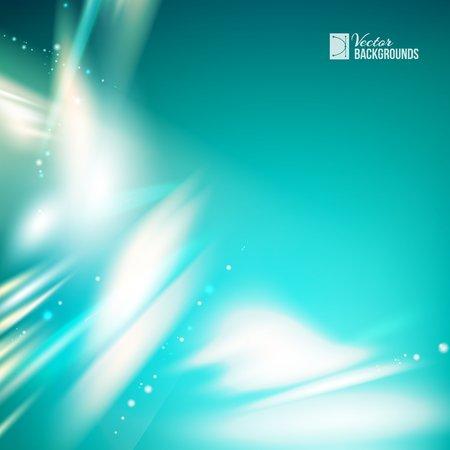 backgrund: White Skyflare over dark blue background. Element blue light with blur effect. Abstract glow. Vector illustration. Illustration